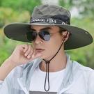 遮陽帽子男夏天釣魚戶外涼防曬太陽透氣夏季休閒男士潮夏款漁夫帽 艾瑞斯ATF「快速出貨」
