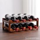 紅酒架 紅酒架擺件葡萄酒架子實木家用小型現代簡約酒柜紅酒格子吧臺多層 印象家品
