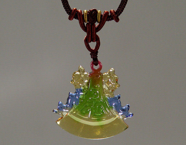 鹿港窯~居家開運水晶琉璃項鍊~福頭◆附精美包裝◆免運費送到家