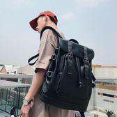 雙肩包男時尚潮流韓版旅行男士背包皮休閒學生書包電腦男包潮新款