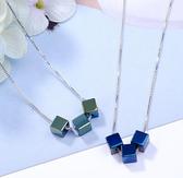 【RJ New York】時尚小清新三生石方塊項環(2色可選)
