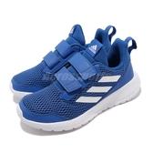 adidas 慢跑鞋 Altarun CF K 藍 白 緩震舒適 魔鬼氈 運動鞋 童鞋 中童鞋【PUMP306】 CG6453
