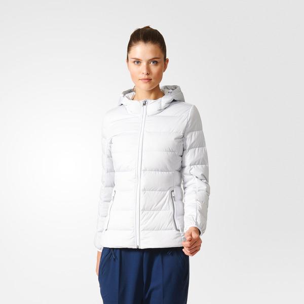 Adidas ET D90 STRC JKT [AY4068] 女款 休閒 短版 合身 輕量 保暖 羽絨 外套 白