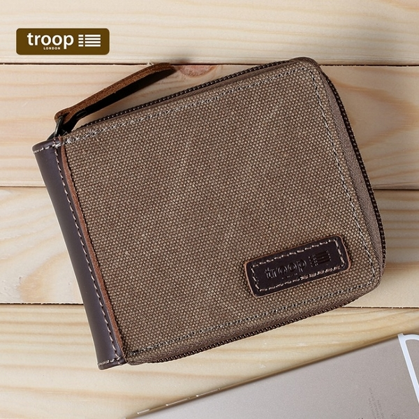 【TROOP】經典品格CLASSIC錢包/TRP0397BN(棕色)