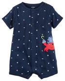 【美國Carter's】短袖純棉連身衣 - 大螯蝦海盜船長 #118H082