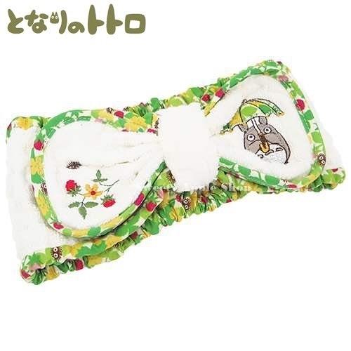 日本限定 宮崎駿 龍貓 雨傘 小黑球 刺繡 髮帶