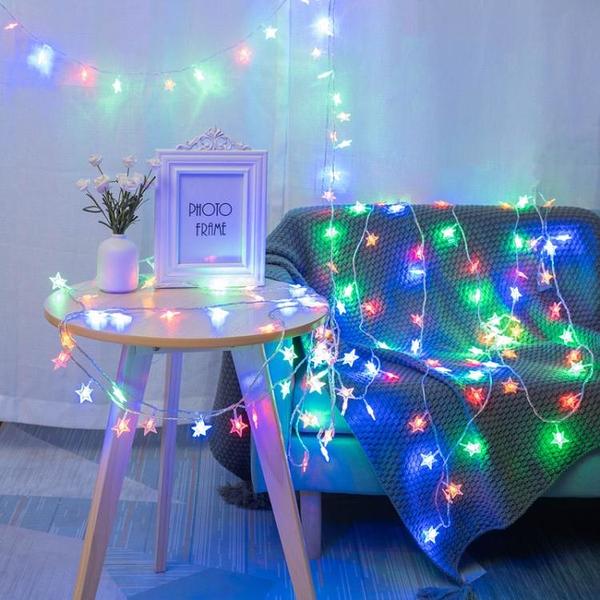 星星網紅燈飾房間布置少女心臥室裝飾品地攤小彩燈閃燈串燈滿天星 童趣屋