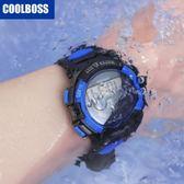 智能兒童手錶男孩防水夜光電子錶