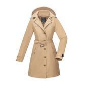 【買就送!2用後背包】[ATUNAS] 歐都納 (女) 都會時尚2L GTX+羽絨二件式外套 深卡其 (A-G1825W-B)