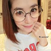 復古圓形半金屬框眼鏡   可   【櫻桃飾品】【20764】