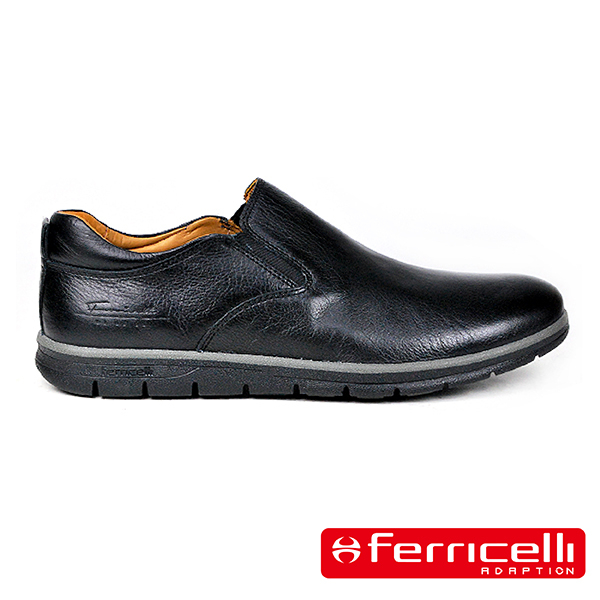 【ferricelli】Koleos男仕素面休閒皮鞋  黑色(F51241-BL)