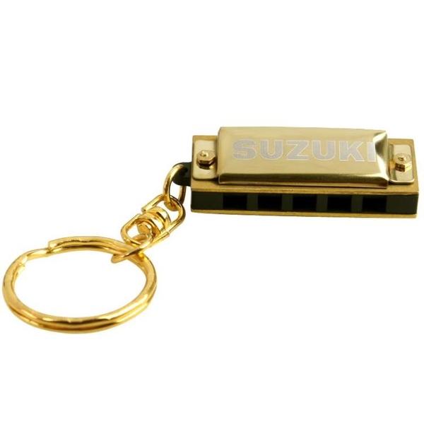 SUZUKI鈴木 S-5 五孔十音 迷你款鑰匙扣小口琴 金色兒童口琴 設計師生活百貨