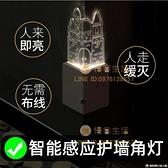 城堡亞克力墻角小夜燈護角條護墻角保護條轉角防撞裝飾燈免打孔【慢客生活】