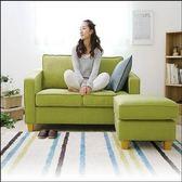布藝沙發小戶型兩人雙人簡易沙發臥室迷妳經濟型儲物腳踏沙發igo  瑪麗蘇