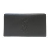 YVES SAINT LAURENT YSL 聖羅蘭黑色牛皮Y字縫線手拿包 Clutch Bag361120 【BRANDOFF】