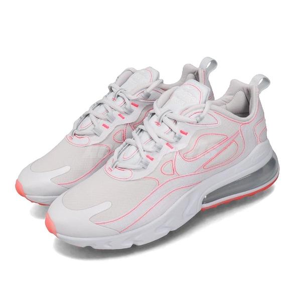 Nike 休閒鞋 Air Max 270 React SP 灰 粉紅 男鞋 大氣墊 運動鞋 【PUMP306】 CQ6549-100