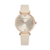 【Emporio Armani】美式經典羅馬時標晶鑽時尚腕錶-香檳粉/AR1681/台灣總代理公司貨享兩年保固