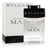 BVLGARI 寶格麗 MAN 當代男性淡香水 小香 5ml  (76001)【娜娜香水美妝】