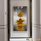 入門玄關裝飾畫豎版走廊盡頭過道壁畫北歐客...