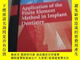 二手書博民逛書店Application罕見of the Finite Eleme