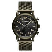 Emporio Armani Dress 亞曼尼復刻計時手錶-黑/43mm AR11115