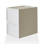 【RISU】北歐風堆疊抽屜櫃組 L -白色