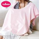 六甲村 舒適型授乳巾 (黑白條紋)