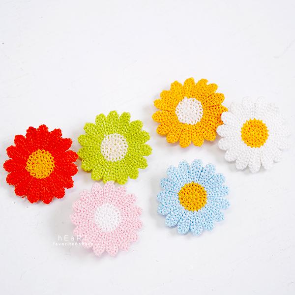 小雛菊可愛花朵造型髮夾 髮飾