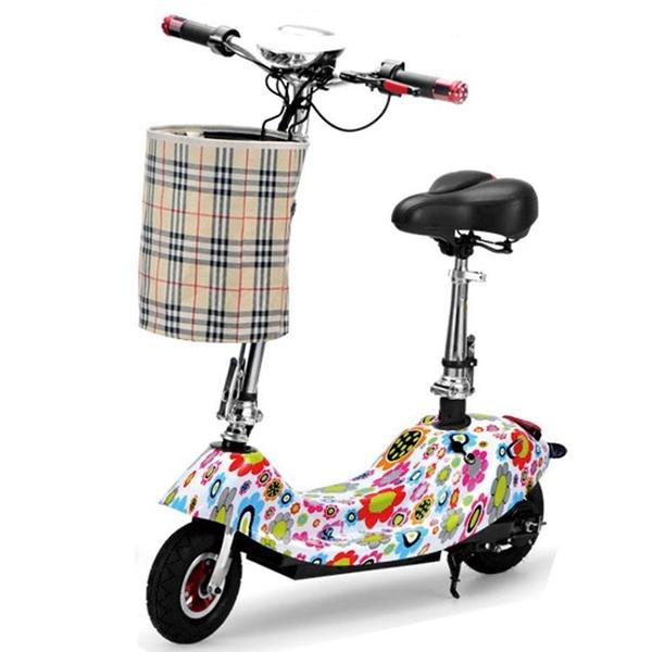 小海豚電動滑板車 成人折疊自行車迷你 電動車 便攜代步車scooter 新年牛年大吉全館免運