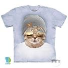 【摩達客】(預購)美國進口The Mountain 墨鏡文青貓 純棉環保藝術中性短袖T恤
