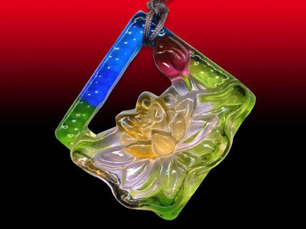 鹿港窯~居家開運水晶琉璃項鍊~窗荷 附精美包裝◆免運費送到家◆
