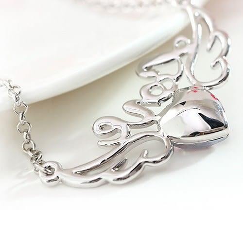 愛的天使 施華洛世奇水晶元素 水晶項鍊  奧地利水晶 手鍊 手環 耳環 情人節禮物 沂軒精品F0053