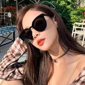全館83折太陽眼鏡明星款墨鏡女2019新款GM港味韓版潮街拍圓臉防紫外線