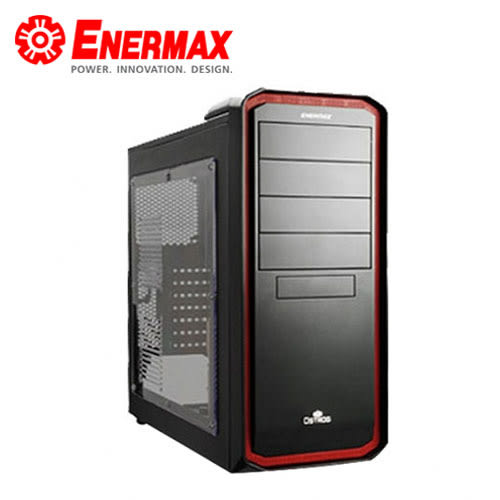 【ENERMAX 安耐美】 黑魅騎士 電競機殼 黑紅