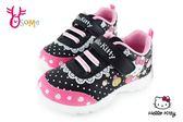 Hello kitty 運動鞋 女童 皮革 防潑水 MIT慢跑鞋 G7989#黑色◆OSOME奧森童鞋