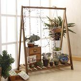 花架-掛式架現代簡約實木 田園木質花 滿千89折限時兩天熱賣