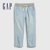 Gap男幼童 淺色水洗鬆緊牛仔褲 541970-淺色水洗