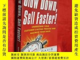 二手書博民逛書店Slow罕見Down, Sell Faster!: Unders