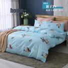 【BEST寢飾】雲絲絨 鋪棉兩用被套 雙人 猴子TV 舒柔棉 台灣製造