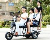 電動三輪車成人摩托車女人老人代步車接送孩子新款小型迷妳電瓶車48V mks 歐歐流行館