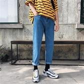 2019春季余文樂網紅同款chic牛仔褲男ins超火的褲子直筒bf風帥t潮