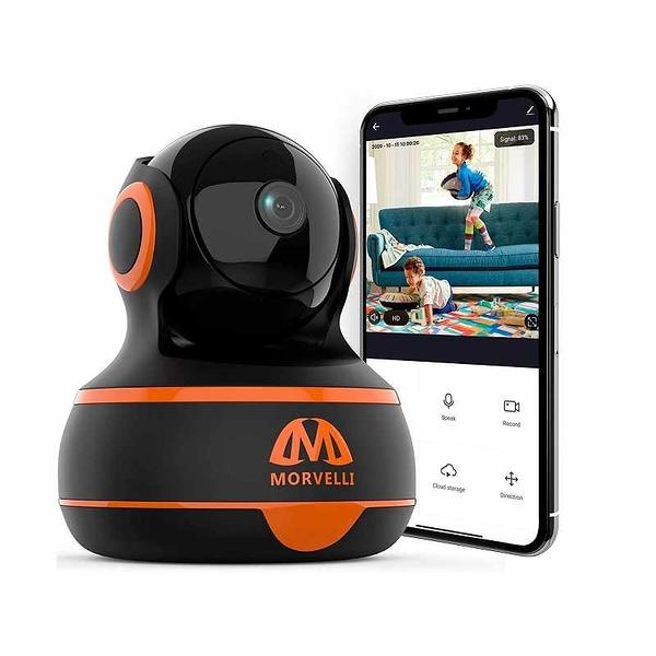 WiFi室內室內監視器 1080P 紅外夜視 支援Alexa Echo [2美國直購]