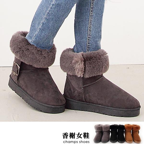 雪靴。翻毛保暖顯瘦磨砂雪靴 香榭