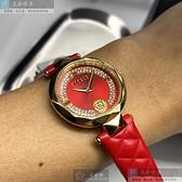 VERSUS VERSACE凡賽斯女錶32mm紅色錶面紅錶帶
