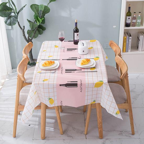 桌布 桌巾 小 PVC 餐巾 長桌巾 餐墊 野餐墊 桌墊 防水布 防油 免洗 撞色印花桌布【J112】MY COLOR