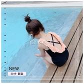 女童泳衣 兒童夏裝新款韓版女童連體泳裝寶寶小公主游泳衣 泳帽洋氣 多色小屋