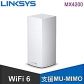 【南紡購物中心】Linksys AX4200 Velop Mesh WiFi 6 三頻網狀路由器《一入組》(MX4200)