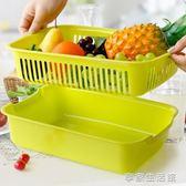 加厚雙層塑料洗菜盆漏盆家用廚房洗菜籃子客廳水果盆瀝水盆瀝水籃·享家生活館