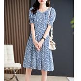 洋裝 大碼連身裙仙美氣質 約會常備系列 桑蠶絲連身裙女D303A快時尚