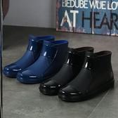 膠鞋 耐磨雨鞋男防滑耐用防水鞋輕便耐磨厚底防滑膠鞋廚房工作鞋廚師鞋